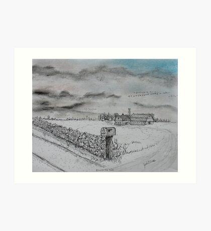 Stockbridge Fence Art Print