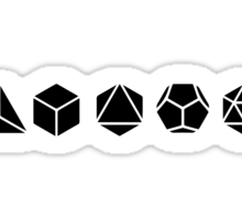 Platonic Solids - Building Blocks Of Life - Mathematics, Geometry Sticker