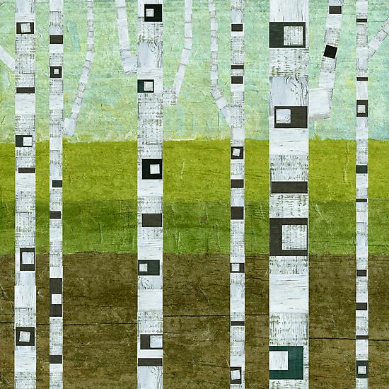 Summer Birches by Michelle Calkins