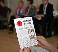 Memories of war leaflet by Keith Larby