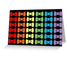 Rainbow Pixel Bows Greeting Card