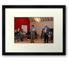 Pupil with John Drewry Framed Print