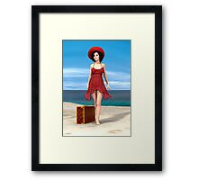 Vintage Vacation Framed Print