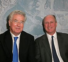 Randolph Churchill with Michael Fallon MP by Keith Larby