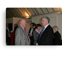 Christopher Jary  in conversation with Michael Fallon MP Canvas Print