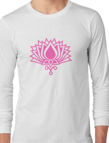 Lotus Flower Symbol Wisdom & Enlightenment Buddhism Zen Long Sleeve T-Shirt
