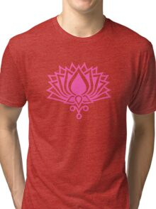Lotus Flower Symbol Wisdom & Enlightenment Buddhism Zen Tri-blend T-Shirt