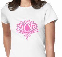 Lotus Flower Symbol Wisdom & Enlightenment Buddhism Zen Womens Fitted T-Shirt