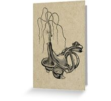 EL AVE QUE ROMPIO SU GARGANTA TRATANDO DE TOSER (The bird broke his throat trying to cough) Greeting Card