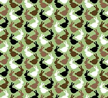 Rabbit Run repeating pattern by pygmycreative
