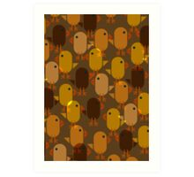 Easter Chicks repeating pattern Art Print