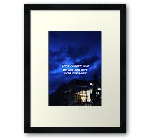 """Dive into the dark"" Framed Print"