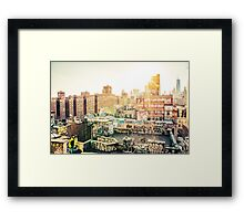 Graffiti Rooftops at Sunset - Chinatown - New York City Framed Print