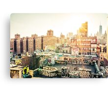 Graffiti Rooftops at Sunset - Chinatown - New York City Canvas Print