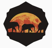 Moon Elephants -Sticker by AllyFlorida