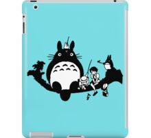 Totoro! (BnW) iPad Case/Skin