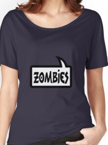 ZOMBIES SPEECH BUBBLE by Zombie Ghetto Women's Relaxed Fit T-Shirt