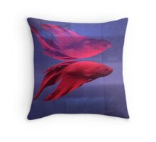 neon reflection Throw Pillow