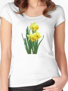 Daffodils Tall and Short Women's Fitted Scoop T-Shirt