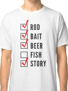 Fishing Checklist Classic T-Shirt