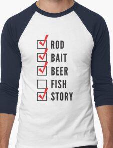 Fishing Checklist Men's Baseball ¾ T-Shirt