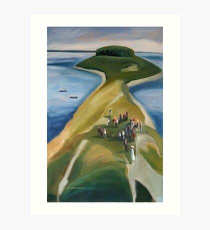 ISLAND WEDDING . WHALEBOAT Art Print