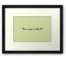 The Treachery of Images Framed Print