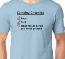 Camping Checklist Unisex T-Shirt