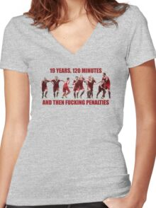 League Cup Winners Women's Fitted V-Neck T-Shirt