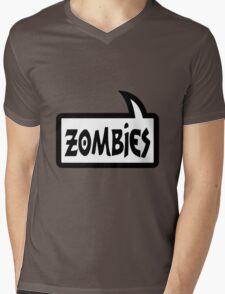 ZOMBIES SPEECH BUBBLE by Zombie Ghetto Mens V-Neck T-Shirt