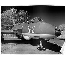 Hawker Hunter FGA.78 aircraft. Poster