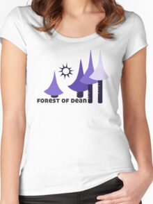 Wyld Forest of Dean t-shirt (in whortleberry) Women's Fitted Scoop T-Shirt
