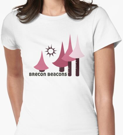 Wyld Brecon Beacons t-shirt (in blossom) Womens Fitted T-Shirt