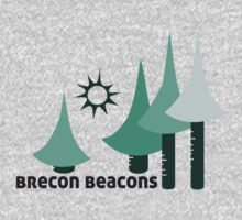 Wyld Brecon Beacons t-shirt (in lichen) One Piece - Short Sleeve