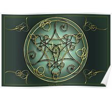Art Metalwork Celtic Triskel Poster