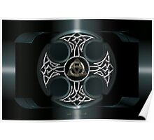 Dark Celtic Cross Poster