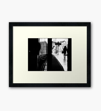 Between the Lines ... Framed Print