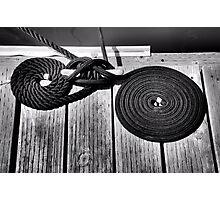 Mooring Ropes Photographic Print