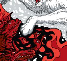Ice and Fire - sticker Sticker