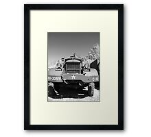 Big Diamond T US Army Recovery Truck Framed Print