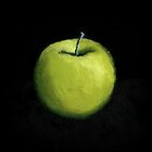 Green Apple Still Life by Michelle Calkins