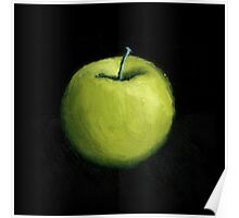 Green Apple Still Life Poster