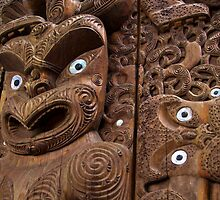 Maori Carving by Peter Mitchell