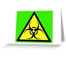 ZOMBIE APOCALYPSE HAZMAT SIGN by Zombie Ghetto Greeting Card