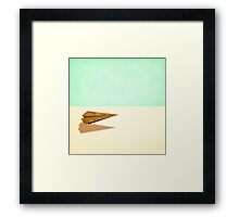 Paper Airplanes of Wood 9 Framed Print