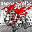 Red Knee Ride Hood - Xmas edition by Meerkatsu
