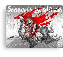 Red Knee Ride Hood - Xmas edition Canvas Print