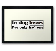 Dog Beers Framed Print