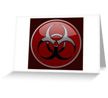 ZOMBIE APOCALYPSE HAZMAT by Zombie Ghetto Greeting Card