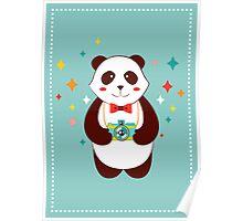 Cute Panda Photographer  Poster